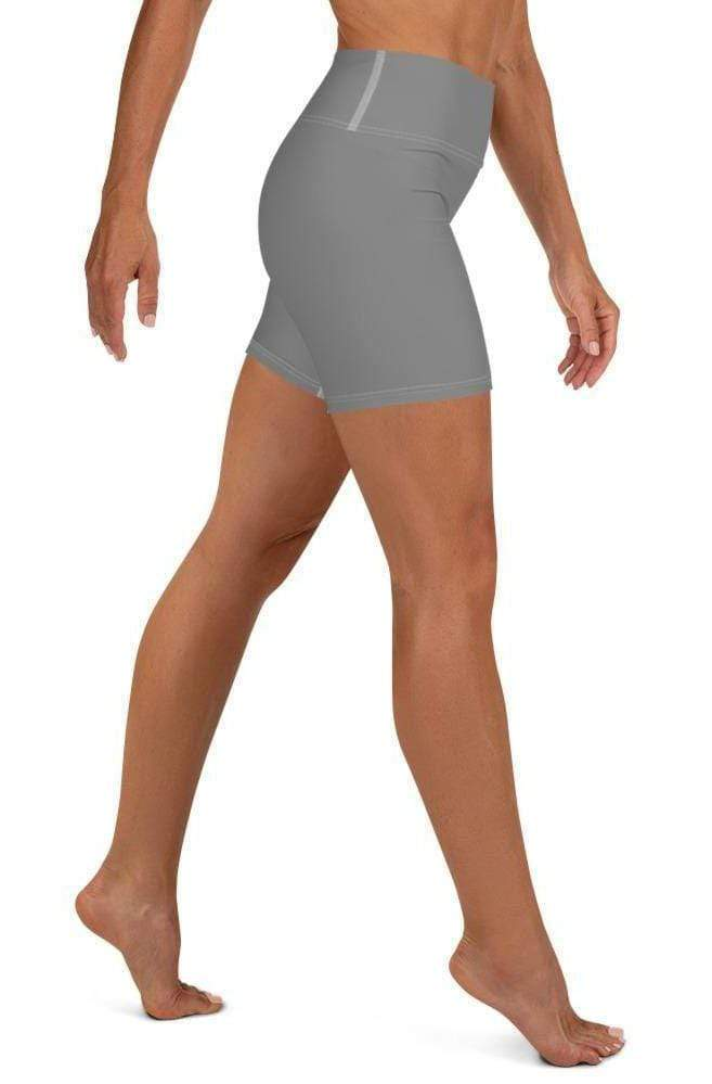 GRAY HIGH WAIST SHORTS - Be Atletic