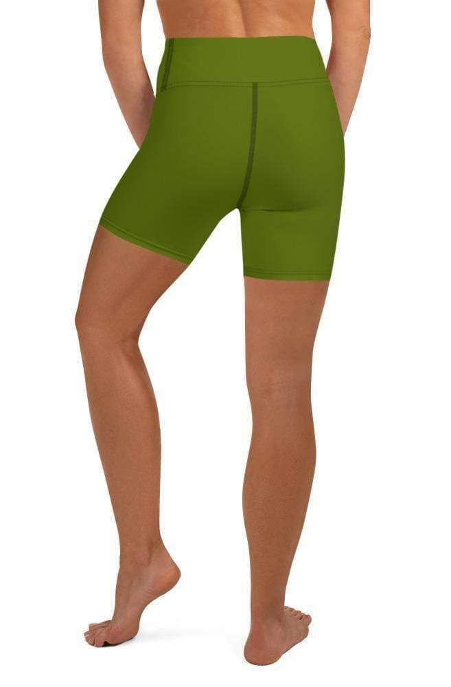 OLIVE HIGH WAIST SHORTS - Be Atletic
