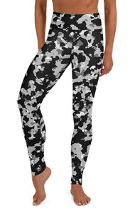 CAILEY HIGH WAIST CAMO LEGGINGS - Be Atletic
