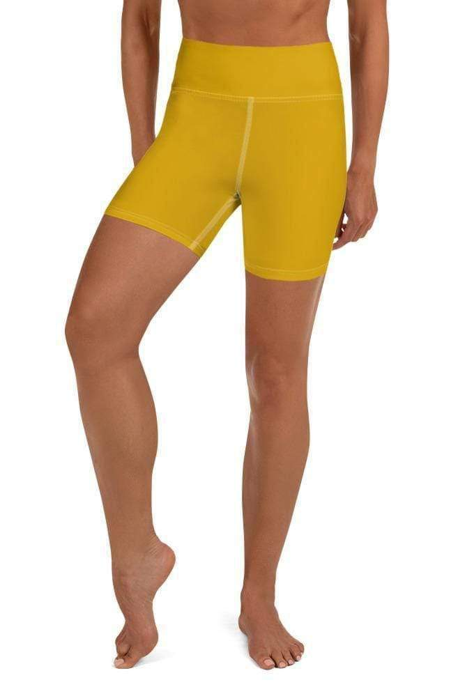 MUSTARD HIGH WAIST SHORTS - Be Atletic