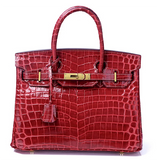 Mediglia Croco Edition Carmine red - 35cm