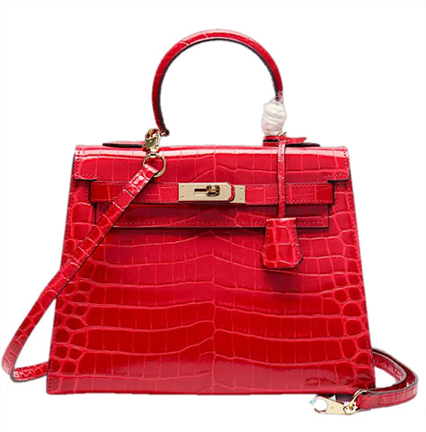 Milano Croco Edition Scarlet red - 25cm