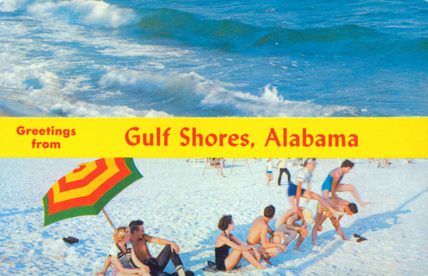 vintage gulf shores post card