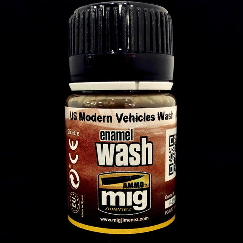 Ammo Enamel Wash-US Modern Vehicles Wash