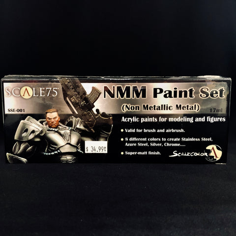 Scale 75 NMM (Non Metallic Metal) Paint Set (Cool Colors)