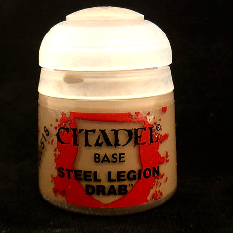 Games Workshop Citadel Base: Steel Legion Drab