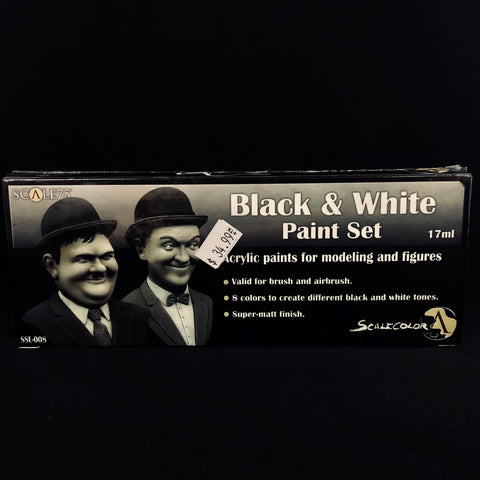 Scale 75 Black & White Paint Set