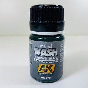 AK Interactive Enamel Wash- Brown Blue For Panzer Grey Vehicles