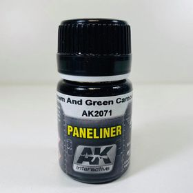 AK Interactive Paneliner- Brown And Green Camouflage
