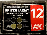 AK Real Colors Paint Set British Army Tunisia, Sicily, & Italy 1942-1943