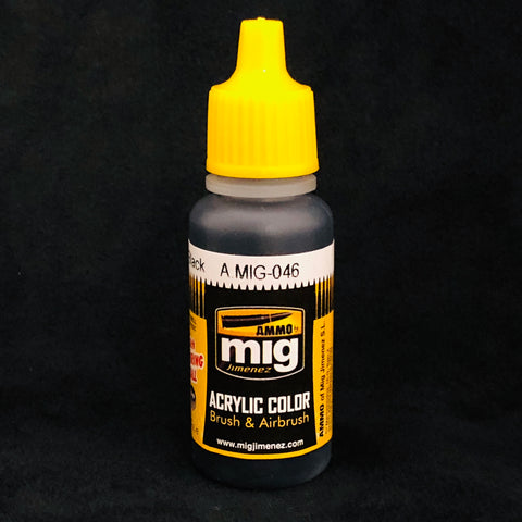 Ammo By Mig Jimenez Acrylic Color: AMIG0046 Matt Black