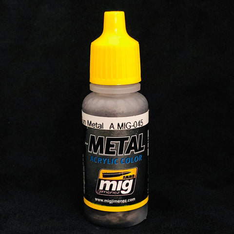 Ammo By Mig Jimenez Acrylic Color: AMIG045 Gun Metal