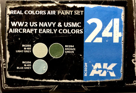 Real Colors: WW2 US NAVY & USMC Early Aircraft Colors Set AK Interactive