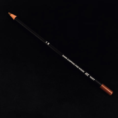 AK Interactive Weathering Pencil: W-17 Dark Chipping for Wood