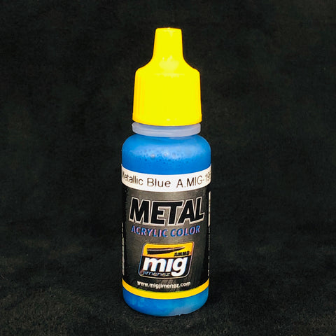 Ammo By Mig Jimenez Acrylic Color: AMIG0196 Warhead Metallic Blue