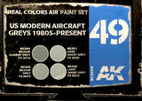 AK Real Colors: US Modern Aircraft Greys 1980s-Present