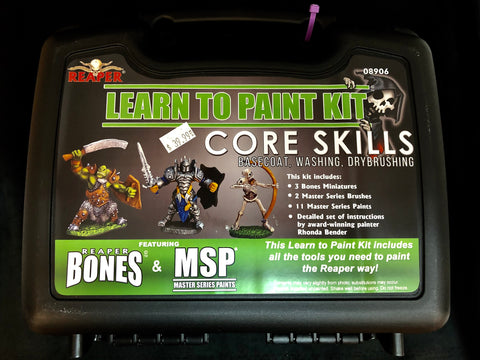 Reaper Miniatures Learn to Paint Kit-Core Skills #08906