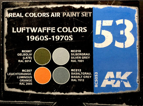 AK Real Colors: Luftwaffe Colors 1960s-1970s