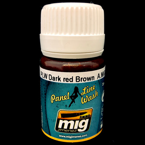 Ammo Panel Line Wash-Dark Red Brown
