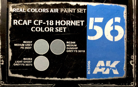 AK Interactive Real Colors- RCAF CF-18 Hornet Color Set