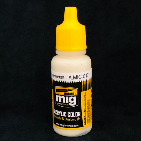 Ammo By Mig Jimenez Acrylic Color: AMIG017 RAL9001 Cremeweiss
