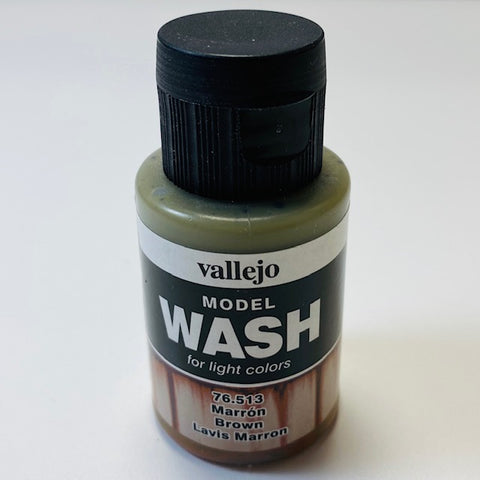 Vallejo Model Wash For Light Colors Brown 76.513 35ML.