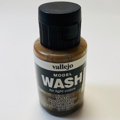 Vallejo Model Wash For Light Colors Dark Brown 76.514 35 ML.