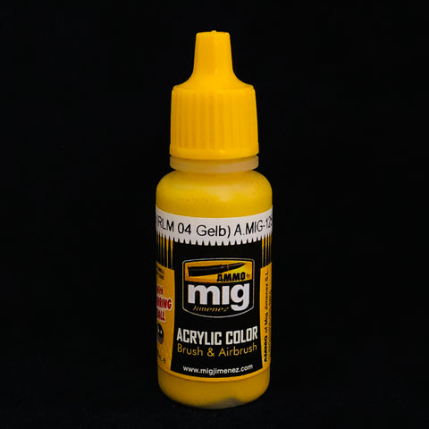Ammo By Mig Jimenez Acrylic Color: AMIG0125 Gold Yellow