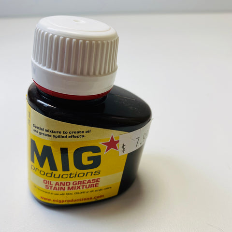 MIG Productions Oil and Grease Stain Mixture P410 75ML.
