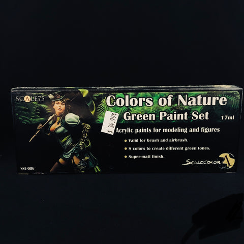 Scale 75 Colors of Nature Green Paint Set