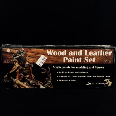 Scale 75 Wood and Leather Paint Set