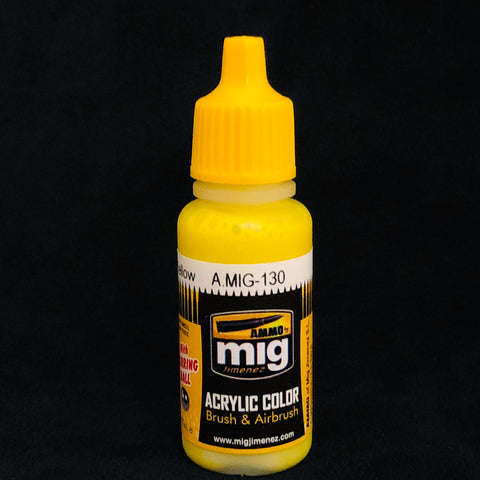 Ammo Acrylic Color: AMIG0130 Faded Yellow