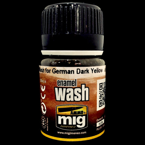 Ammo Enamel Wash-Brown Wash For German Dark Yellow