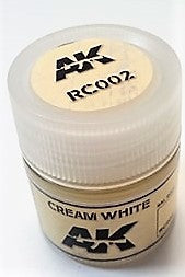 AK Interactive Acrylic Varnish- Cream White RC002