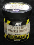 Light & Dry Crackle Effect Texture - AK Weathering and Basing Effect