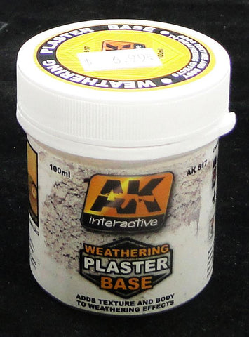 Weathering Plaster Base - AK Weathering and Basing Effect