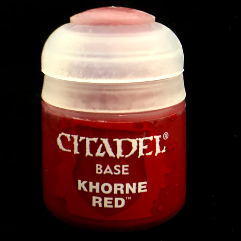 Games Workshop Citadel Base: Khorne Red