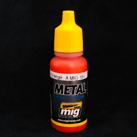 Ammo By Mig Jimenez Acrylic Color: AMIG189 Metallic Orange