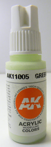 AK Interactive 3rd Generation Acrylic Modeling Color Greenish White AK11005