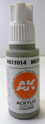 AK Interactive 3rd Generation Acrylic Modelling Colors Medium Sea Grey AK11014