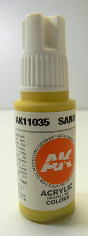 AK Interactive 3rd Generation Acrylic Modeling Colors Sand Yellow AK11035