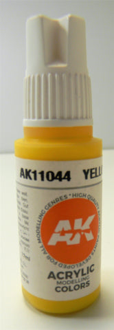 AK 3rd Generation Interactive Acrylic Modeling Colors Yellow AK11044