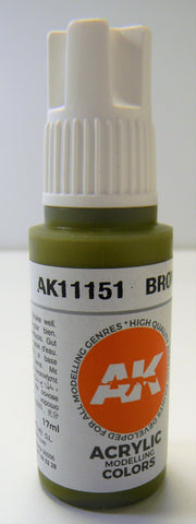 AK Interactive 3rd Generation Acrylic Modeling Colors Brownish Green AK11151
