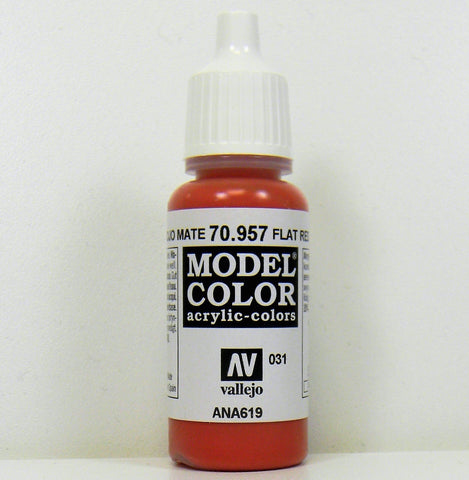 Vallejo Acrylic Model Color- Flat Red
