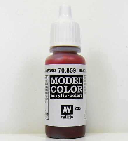 Vallejo Acrylic Model Color- Black Red