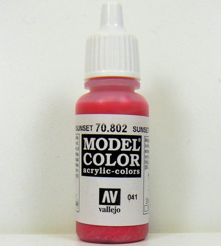 Vallejo Acrylic Model Color- Sunset Red