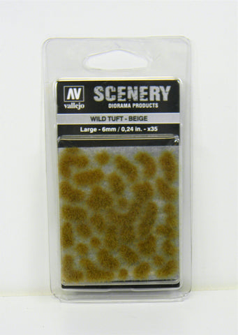 Vallejo Scenery Diorama Products- Wild Tuft Beige Large 6mm