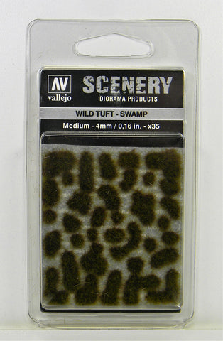 Vallejo Scenery Diorama Products- Wild Tuft Swamp Medium 4mm