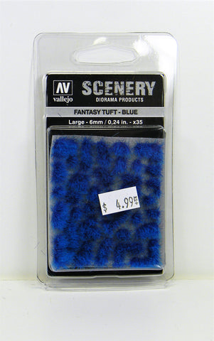Vallejo Scenery Diorama Products- Fantasy Tuft Blue Large 6mm