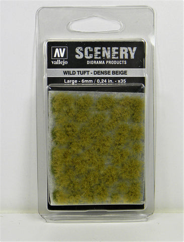 Vallejo Scenery Diorama Products- Wild Tuft Dense Beige Large 6mm